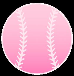 Pink Baseball Design - Free Clip Art