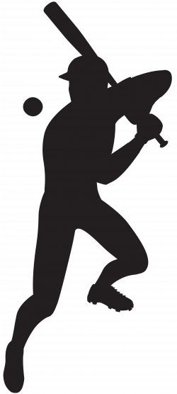Baseball Player Silhouette Clip Art Image | Gallery Yopriceville ...