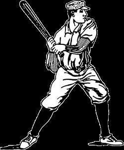 Clipart - Vintage Baseball Player Illustration
