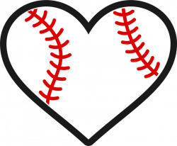 Baseball/Softball Heart Decal – Wicked Whiskerz