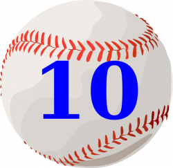 Baseball 10 Clip Art at Clker.com - vector clip art online, royalty ...