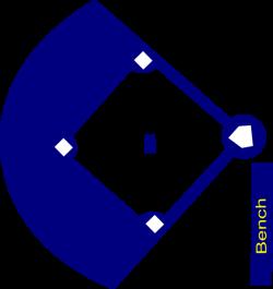 Baseball Field Navy Clip Art at Clker.com - vector clip art online ...