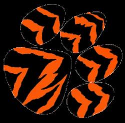 tiger cartoon pics | Tiger Paw Cut image - vector clip art online ...