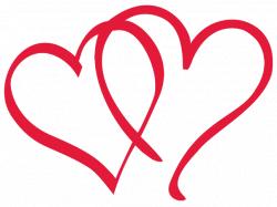graphic design hearts | Two Hearts Design - Heart Designs Clipart ...