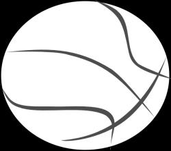 Basketball Outline Clip Art at Clker.com - vector clip art online ...