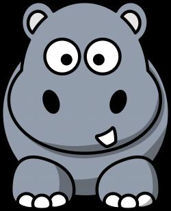 Gray clipart hippo - Pencil and in color gray clipart hippo