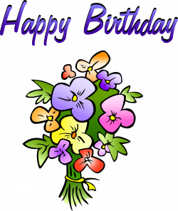 Art Birthday Flowers Clipart