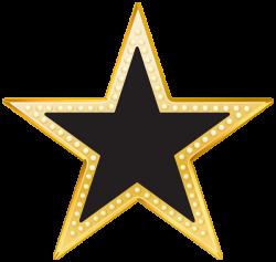 Gold and Black Star PNG Transparent Clip Art Image | # 115 Stars ...