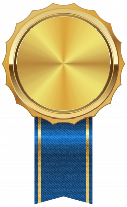Gold Medal with Blue Ribbon PNG Clipart Image | Gallery Yopriceville ...