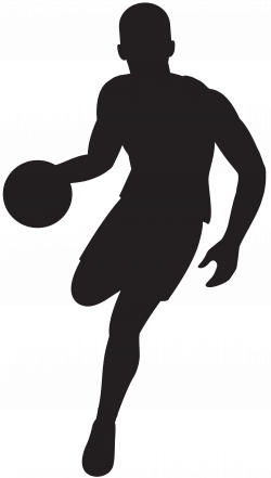 Basketball Player Silhouette Clip Art Image | Gallery Yopriceville ...