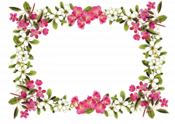 Flower Silhouette Border at GetDrawings.com | Free for personal use ...