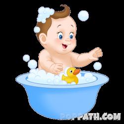 Baby In Bathtub Clipart - Bathtub Ideas