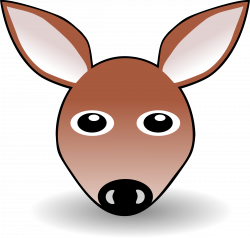 Funny Fawn Face Brown Cartoon Icons PNG - Free PNG and Icons Downloads