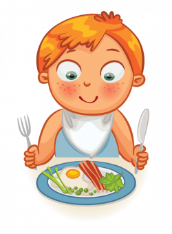 Clip art - Kid - Dinner Time / Eating Time | Clock Time | Pinterest ...