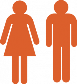 Boy And Girl Stick Figure - Orange Clip Art at Clker.com - vector ...