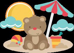 Bear At The Beach   Bear Clipart   Pinterest   Svg file, Bears and ...