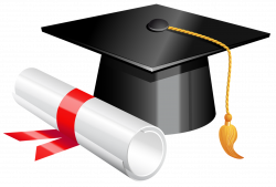 Graduation Cap and Diploma PNG Clipart Picture | Gallery ...