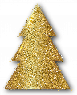 Gold Christmas Tree Clip Art PNG Image | Gallery Yopriceville ...