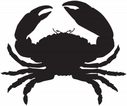 Crab Silhouette PNG Clip Art Image | Gallery Yopriceville - High ...