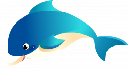 This happy cartoon dolphin clip art is licensed under a Creative ...