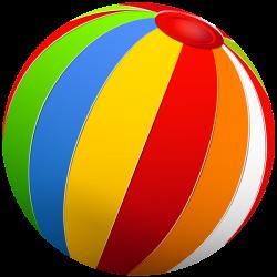Beach Ball PNG Clip Art | Веселые картинки | Pinterest | Beach ball ...
