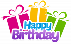 Happy Birthday with Gifts PNG Clip Art Image | Gallery Yopriceville ...