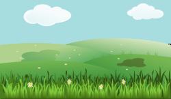 Public Domain Clip Art Image | Green grass landscape | ID ...