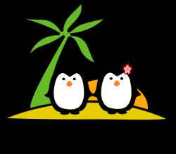 Two Penguins At Beach Clip Art at Clker.com - vector clip art online ...