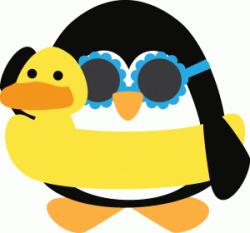 Silhouette Design Store - View Design #62833: beach penguin ...