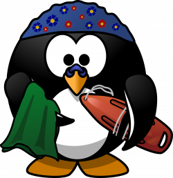 Clipart - Swimmer Penguin