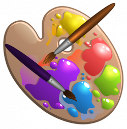 School Palette with Paint Brushes PNG Image | School clip ...
