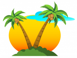 Palms and Sun PNG Vector Clipart | Gallery Yopriceville - High ...