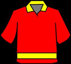 Club Shirt Red/yellow Clip Art at Clker.com - vector clip art online ...