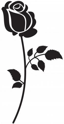 Rose Silhouette PNG Clip Art Image | Gallery Yopriceville - High ...