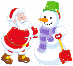Transparent Santa and Snowman PNG Clipart   Gallery Yopriceville ...