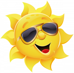 Sun with Sunglasses PNG Clipart Image | Summer clip | Pinterest ...