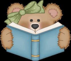 Vintage Bear Clip Art   Bear reading a book   ~~Cute Clip-Art ...