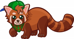 Racoon clipart red - Pencil and in color racoon clipart red
