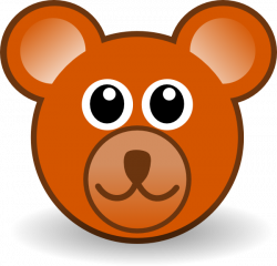 simple bear face cub | facepaint | Pinterest | Bear face, Teddy bear ...