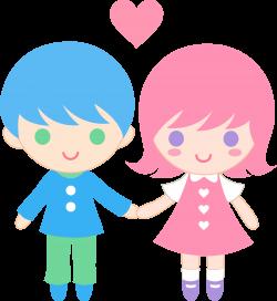 Cute clip art of a little boy and little girl holding hands | Sweet ...