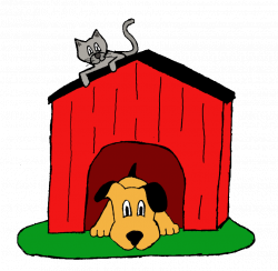 28+ Collection of Dog In Doghouse Clipart | High quality, free ...