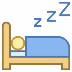 Sleeping clipart icon - Pencil and in color sleeping clipart icon