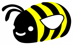 Clipart - Cute bumble bee