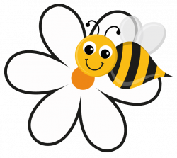 Gallery clipart bee flower - Pencil and in color gallery clipart bee ...