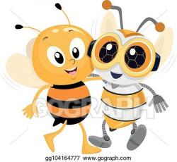 Vector Clipart - Robotics bee friend illustration. Vector ...