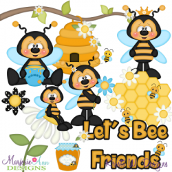 Let's Bee Friends SVG Cutting Files + Clipart | CUTTING ...