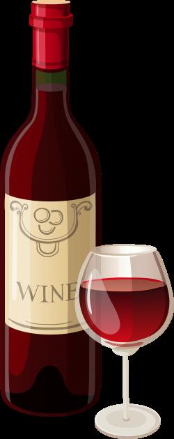 Image result for wine bottle and glass clip art | Clip art ...
