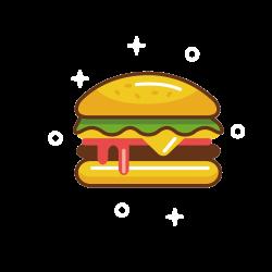 Hamburger Fast food Cheeseburger Clip art - Yellow Burger 1500*1500 ...