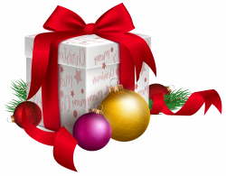 Christmas Gift and Ornaments Transparent PNG Clip Art Image ...