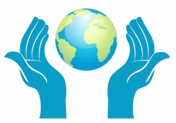 Earth Hand Clip art - Blue Earth holding element 1024*718 transprent ...